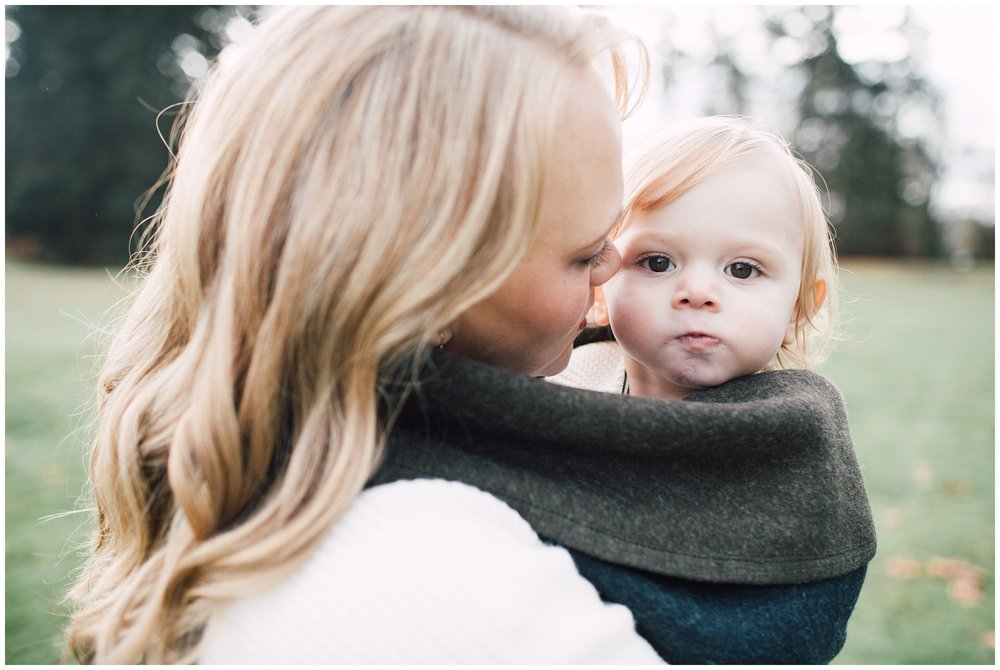 the Happy Film Company - St. Edwards Park - Seattle Family Photography - mother daughter portrait wrapped in blanket