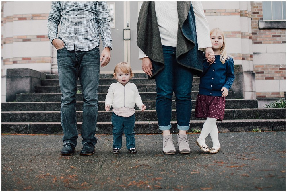 the Happy Film Company - St. Edwards Park - Seattle Family Photography - family photos of feet standing in line on stairs