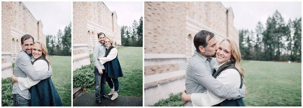 the Happy Film Company - St. Edwards Park - Seattle Family Photography - parents hugging engagement photos couple portraits