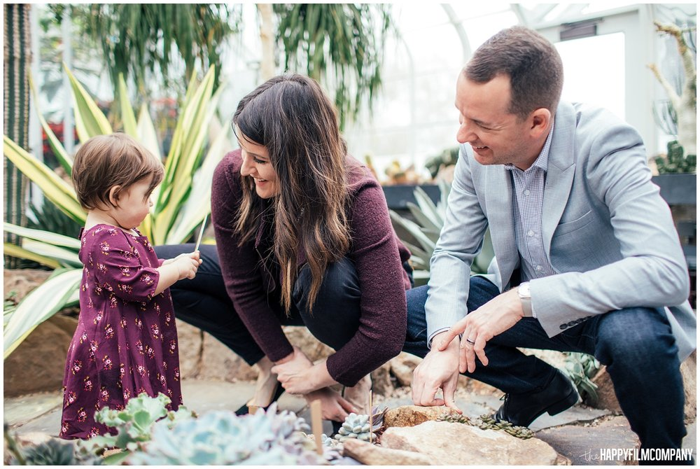 the Happy Film Company - Seattle Family Photos - Volunteer Park Conservatory - baby in greenhouse desert plants