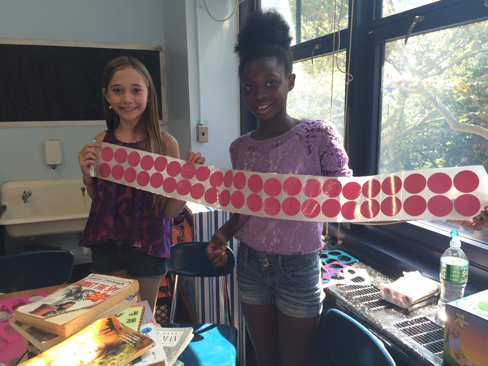 Clara and Ruth created stickers using our sticker system in room 220