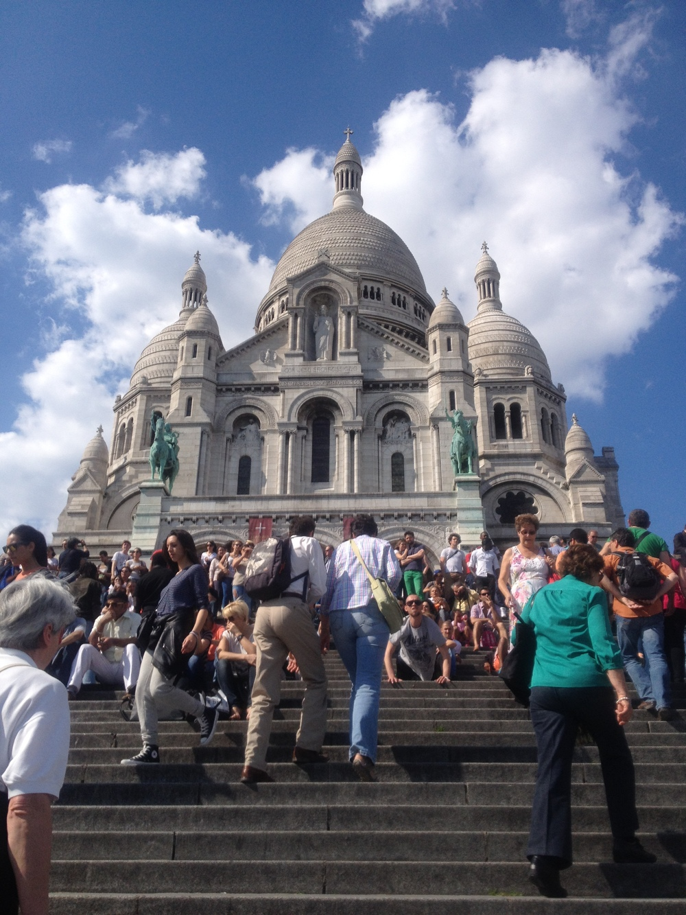 Sacré-Cœur Basilica in  Paris, France.