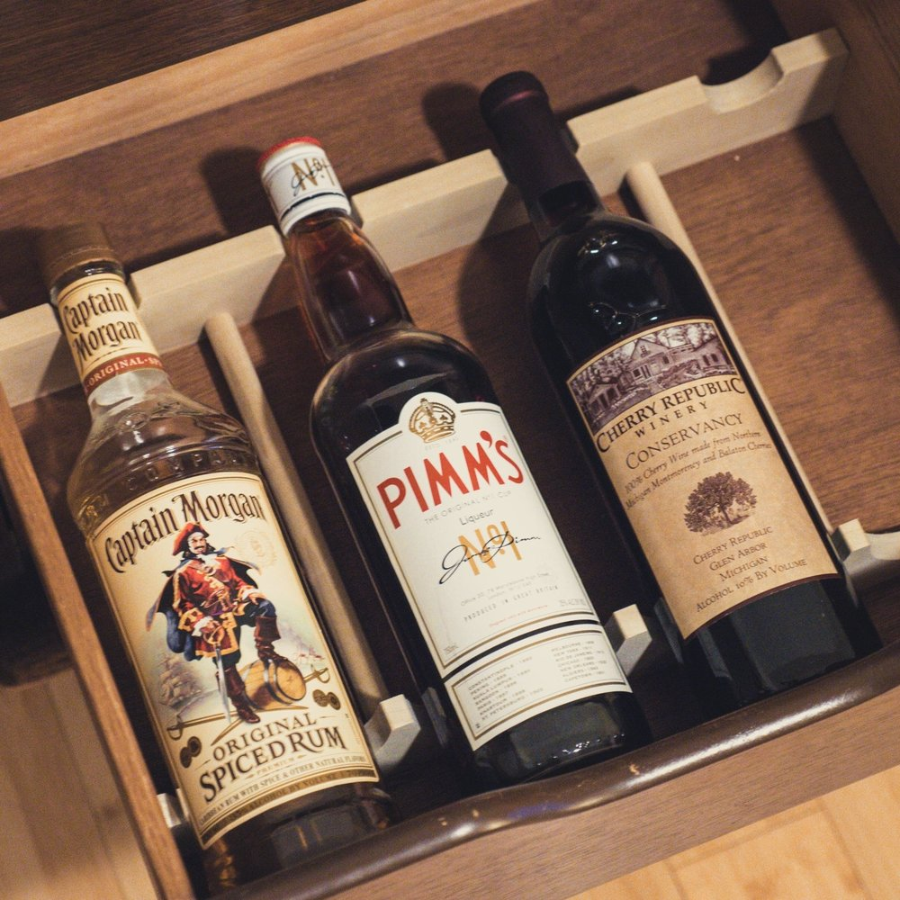 drawer wine rack