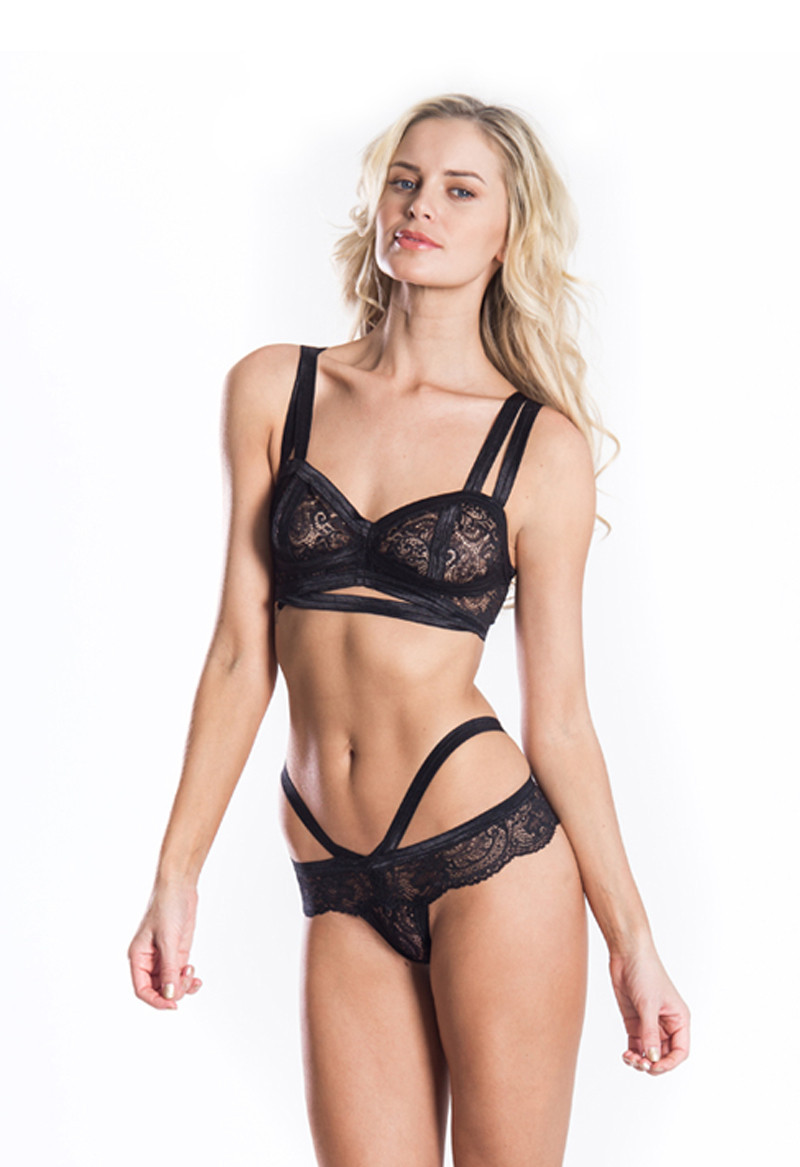 Cantiq LA   Soft Cup Vintage Cut Out Bralette