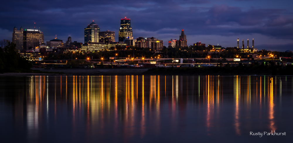 Kansas City Skyline from Kaw Point