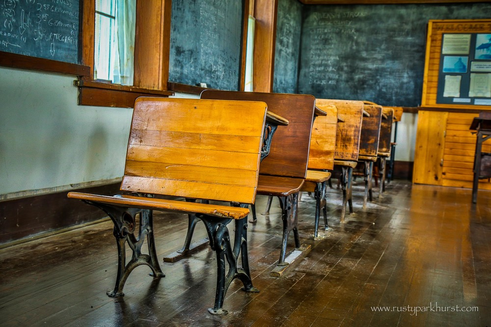 Desks of Yesteryear, Lower Fox Creek School