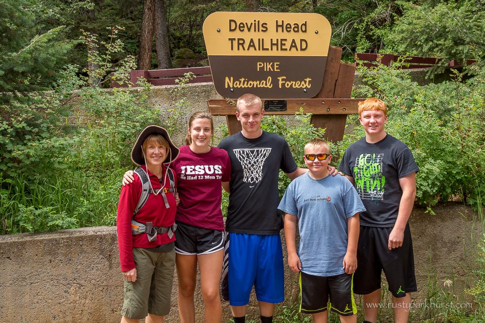 At the Devil's Head Trailhead
