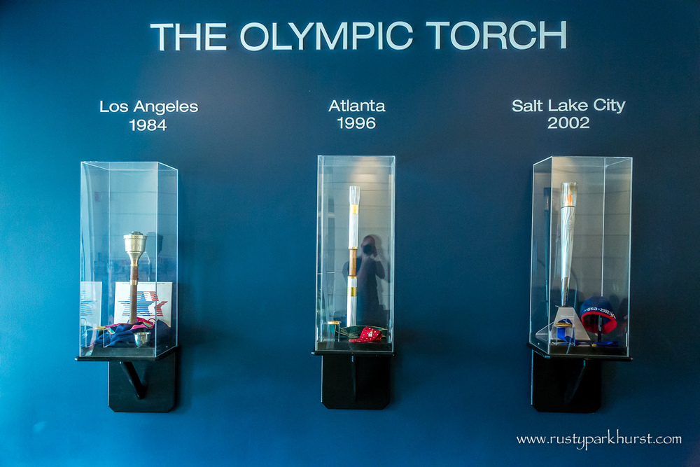 Olympic Torches from U.S. Host Cities