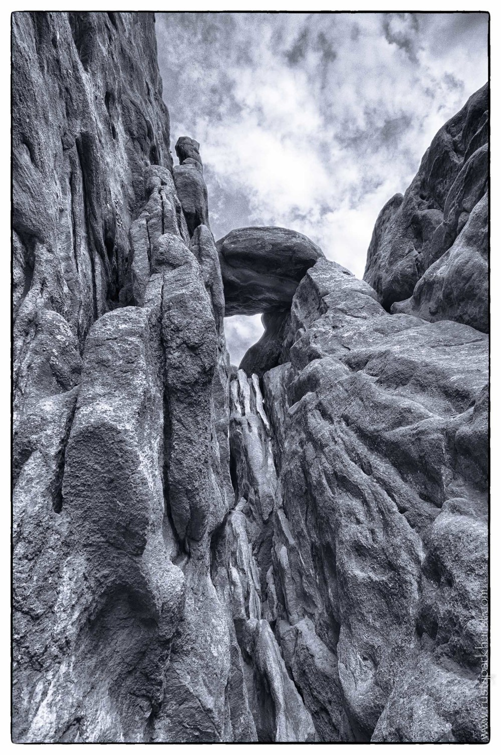 Rock Formations in Monochrome