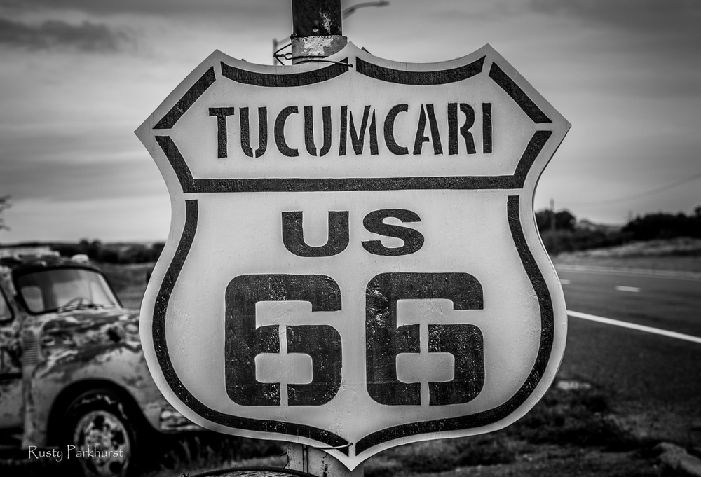 Route 66 sign in Tucumcari, New Mexico