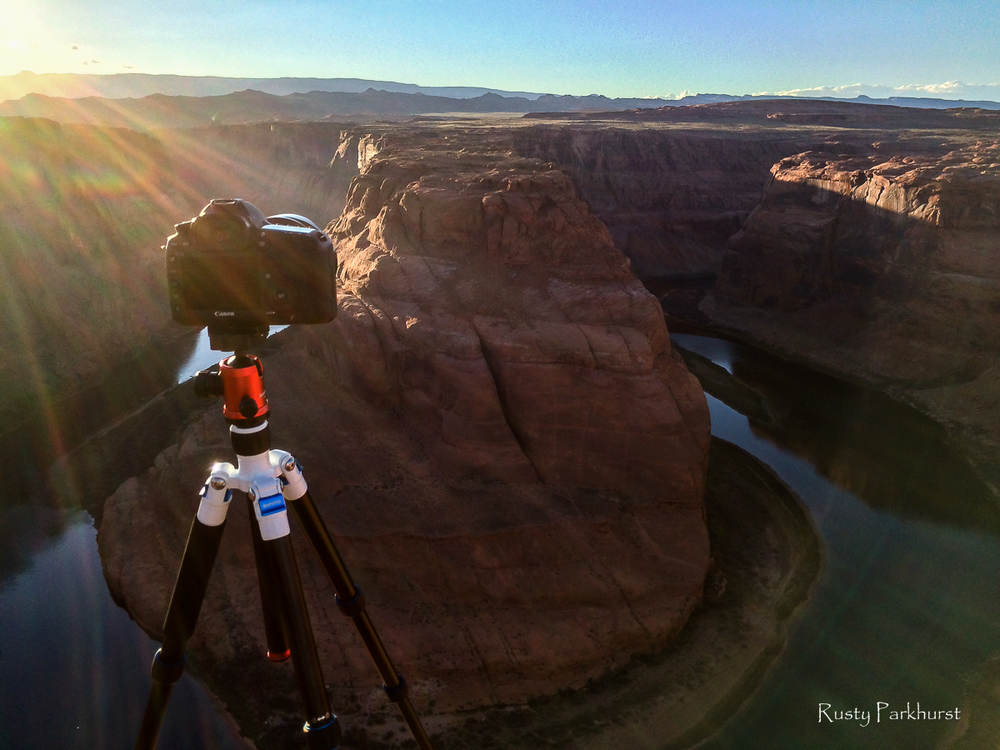 Set up for the shot at Horseshoe Bend