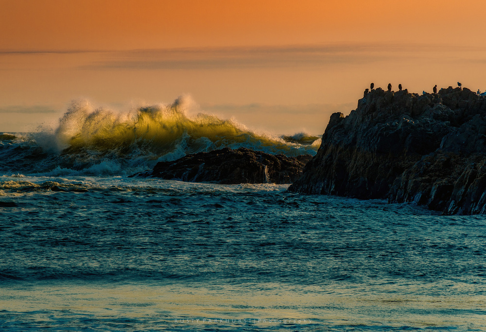 Seal Rock Sunset - taken May 17, 2015.  This area is located along the coast, to the south of Newport, Oregon.  This was a perfect evening, with amazing colors in the sky.  Several other images from this location were finalists for this list, but I really liked this wave.