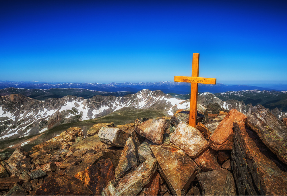 Quandary Cross   - taken July 28, 2015.  This cross has been to the summit of a few Colorado 14ers, and will hopefully be to the top of many more.