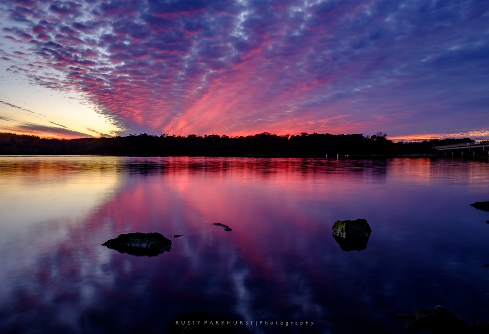 Smithville Lake Sunset   - taken November 6, 2015.  This is my favorite sunset for 2015.  The clouds lit up with vibrant shades of pink, purple, and magenta, and the water made for a nice reflective surface.