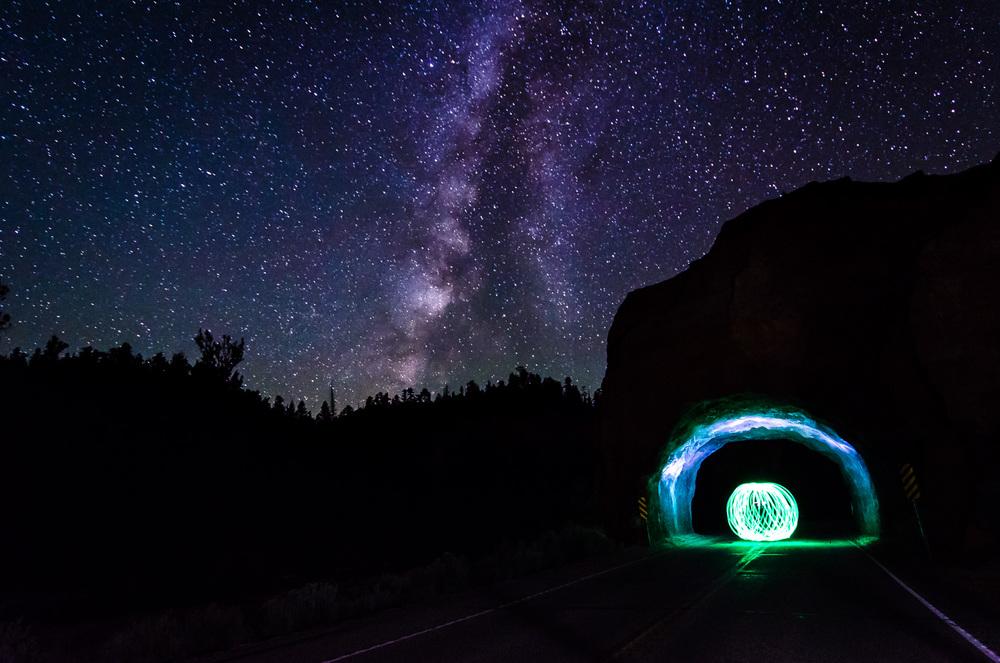 Red Canyon at Night