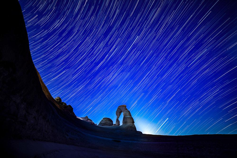 Delicate Arch Star Trails
