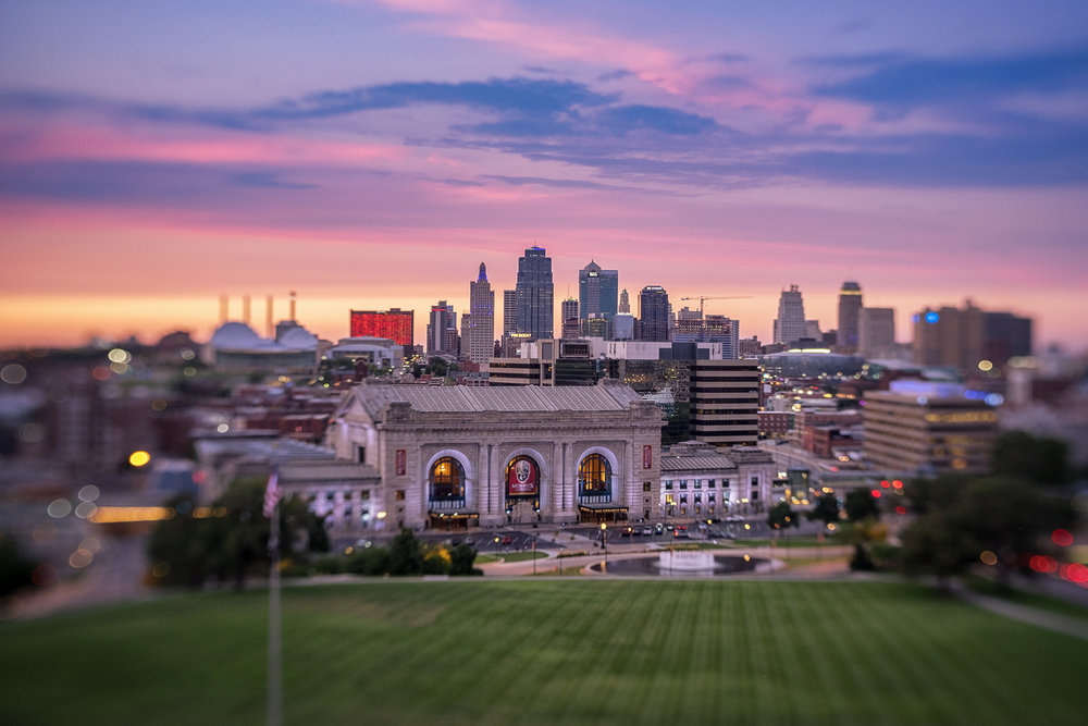 Kansas City Skyline; using the Sweet optic on the Trio 28.