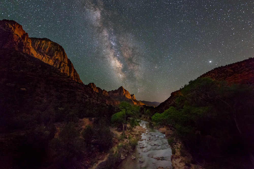 """Milky Way over the Watchman"", Zion National Park, Utah."