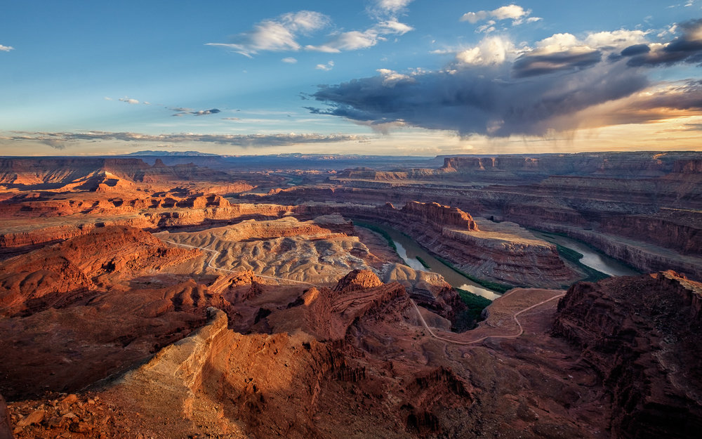"""Sunset in Canyonland"", Dead Horse Point State Park, Utah."