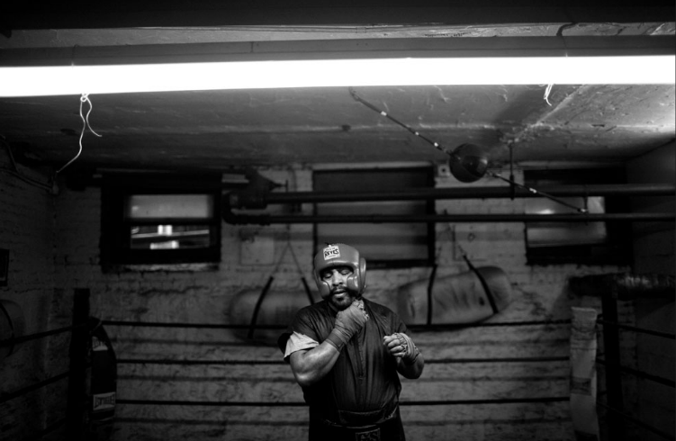 A lobby attendant on the Upper West Side, Mr. Vega, 52, retired from boxing in 1986 but still earns extra money sparring.  Link