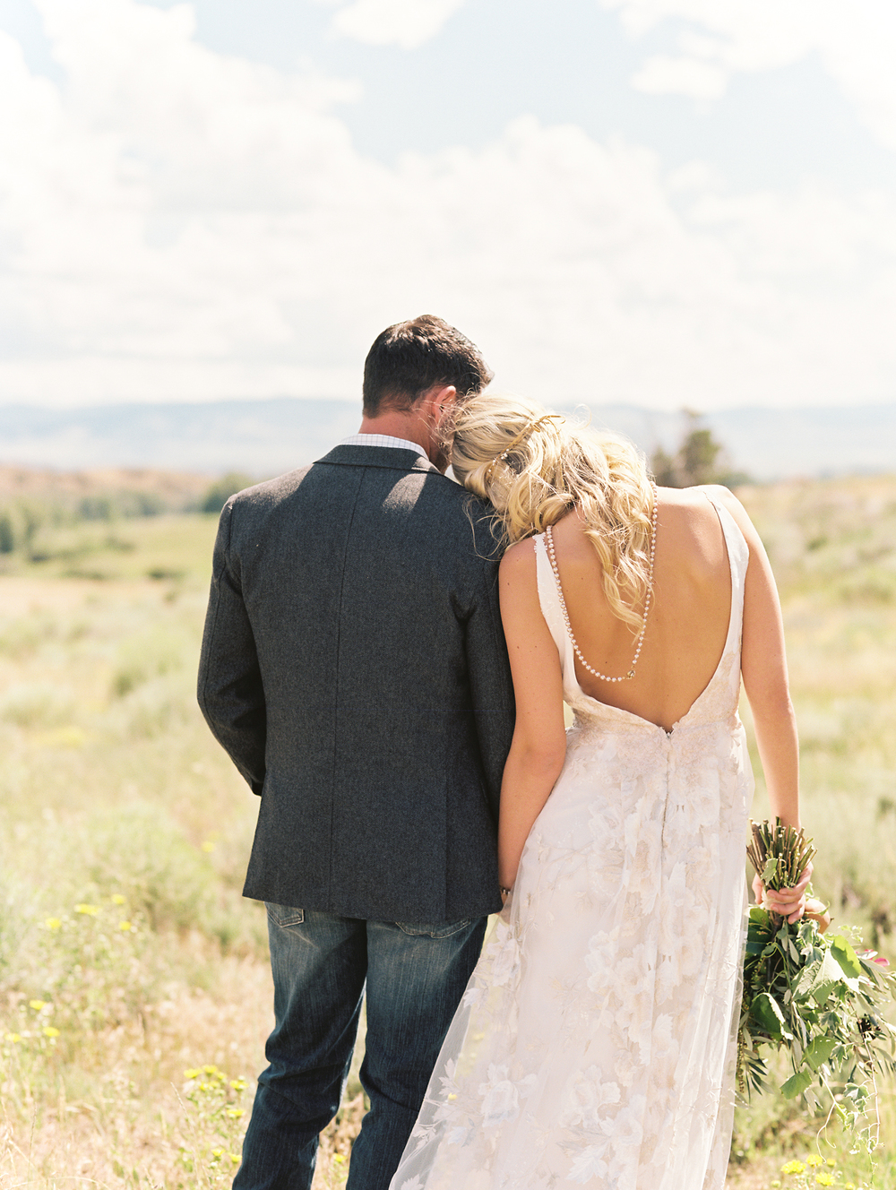 Brush Creek Ranch boho wedding look, Claire Pettibone dress, Lisa O'Dwyer Photography-5.jpg