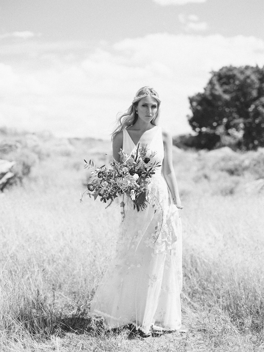 Brush Creek Ranch boho wedding look, Claire Pettibone dress, Lisa O'Dwyer Photography-1.jpg