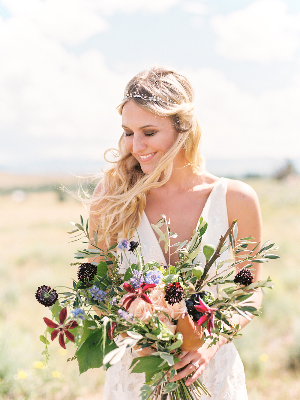 Brush Creek Ranch boho wedding look, Claire Pettibone dress, Lisa O'Dwyer Photography-50.jpg