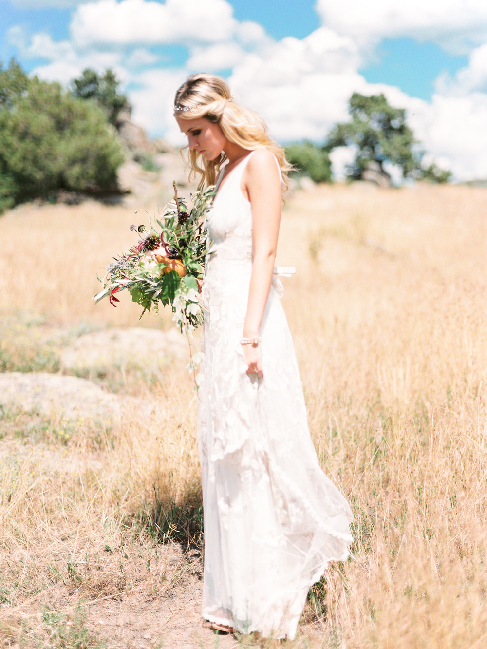 Brush Creek Ranch boho wedding look, Claire Pettibone dress, Lisa O'Dwyer Photography-73.jpg