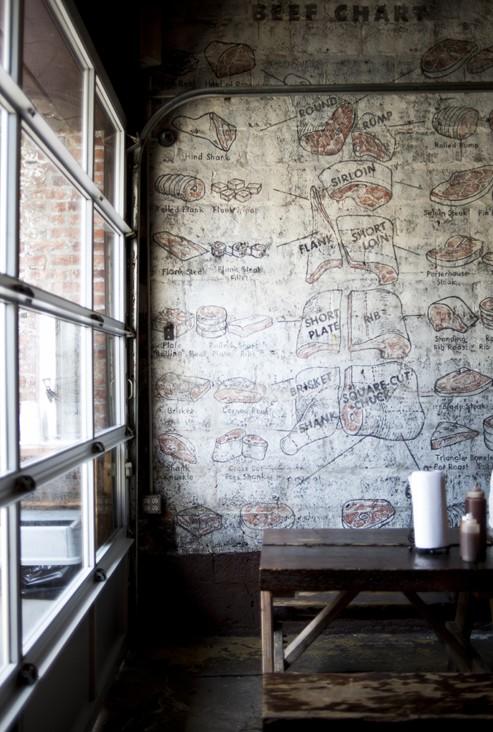 Interior of Fette Sau BBQ, NYC