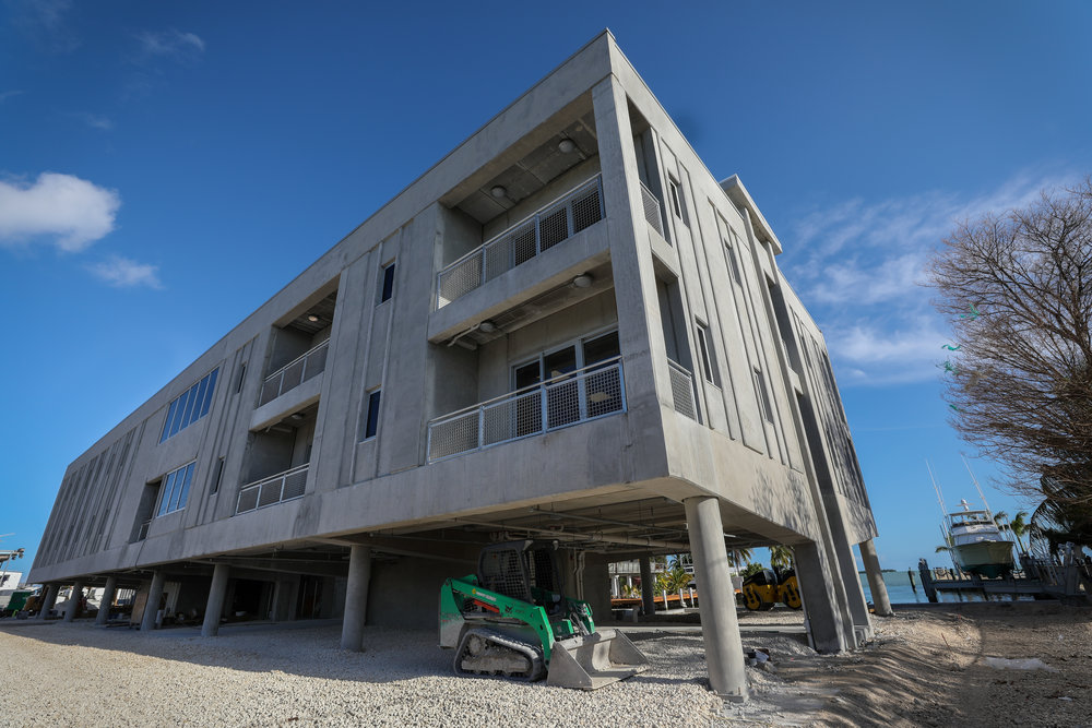 Elizabeth Moore International Center for Coral Reef Research & Restoration in the Florida Keys shortly after the completion of the new building.