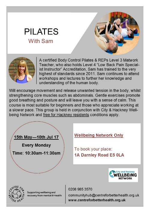 **Free for Wellbeing Network registered people     (priority will be given to Wellbeing Network)  *   *  Waiting list available for non-Network members for unbooked space at the start of the course)