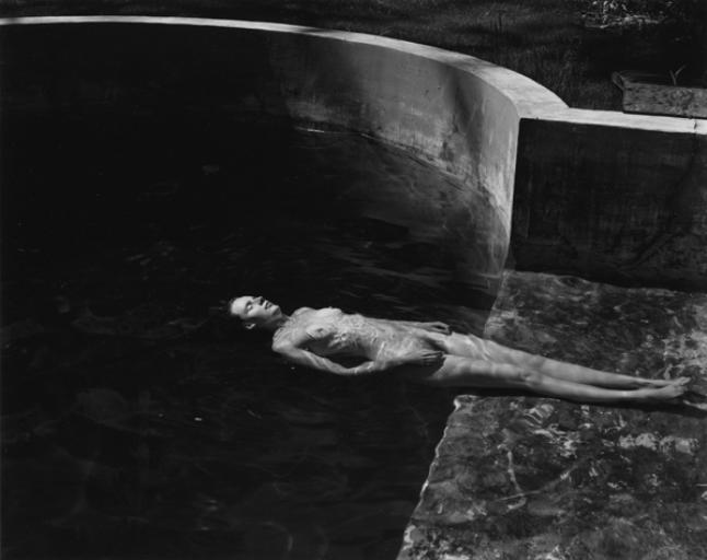 Nude Floating (Charis). 1939. Edward Weston
