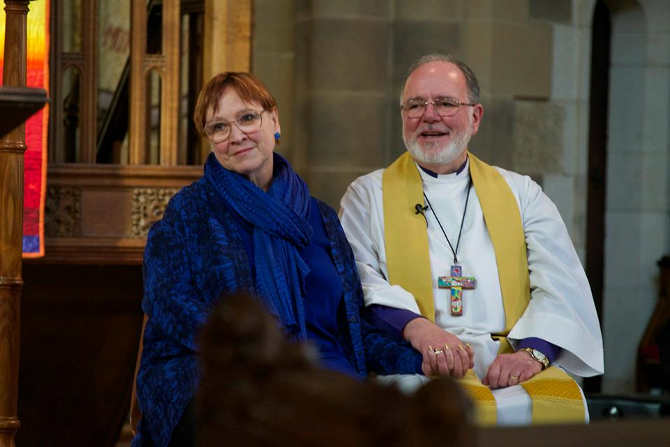 Bishop John Harrower and his wife Gaylene
