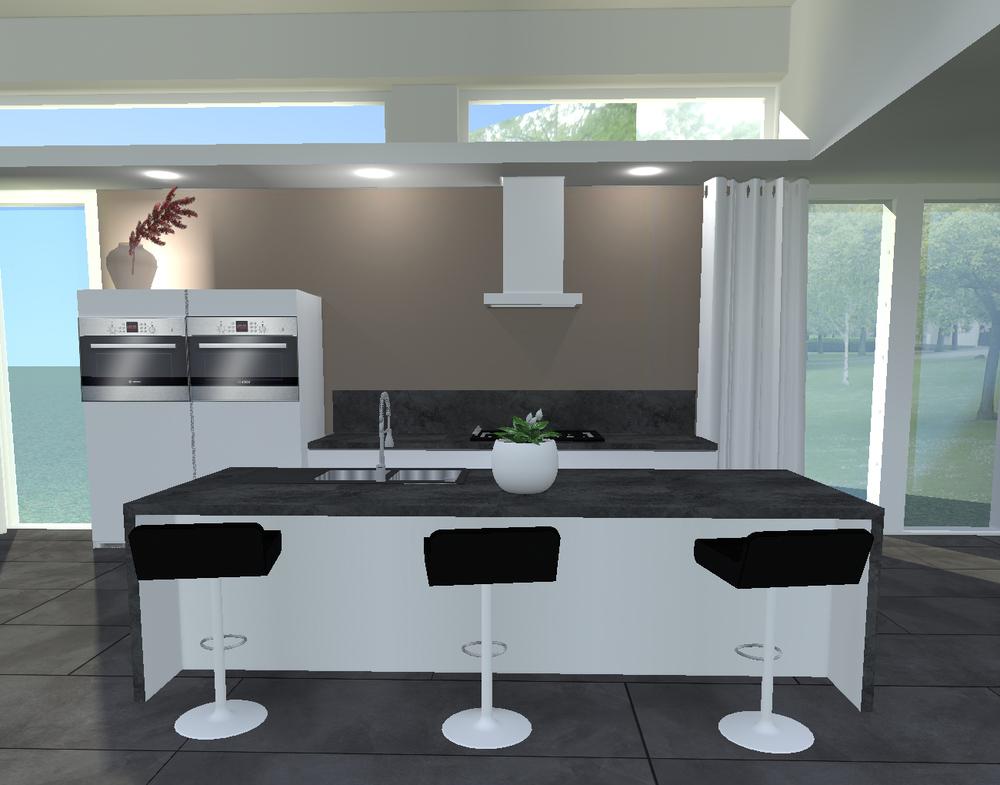 Keuken Plattegrond Voorbeelden : Ontwerp keuken, De Kalbo