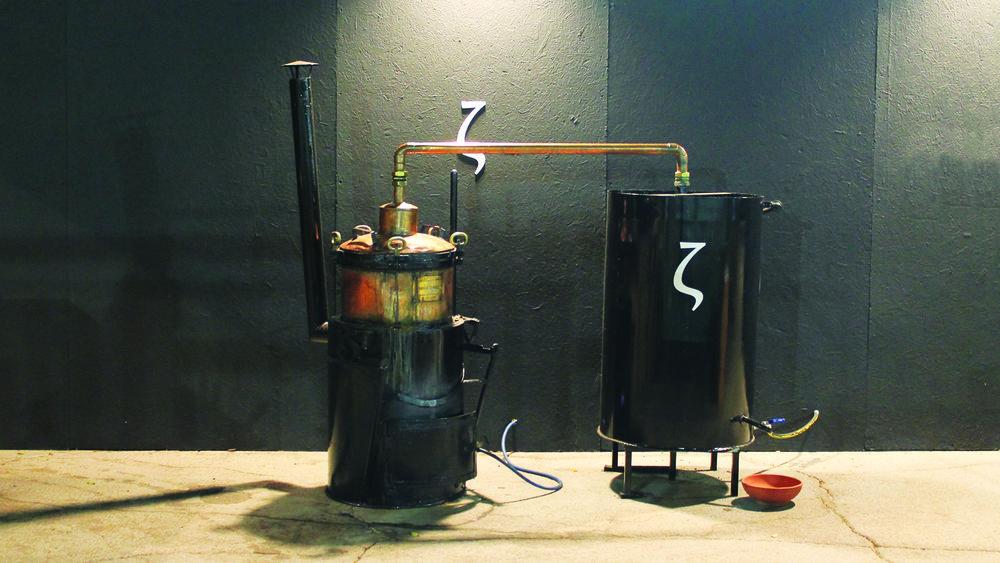 Device of distillation. Zivania.