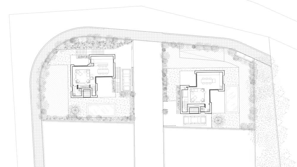 A & E: Ground floor. Plan.