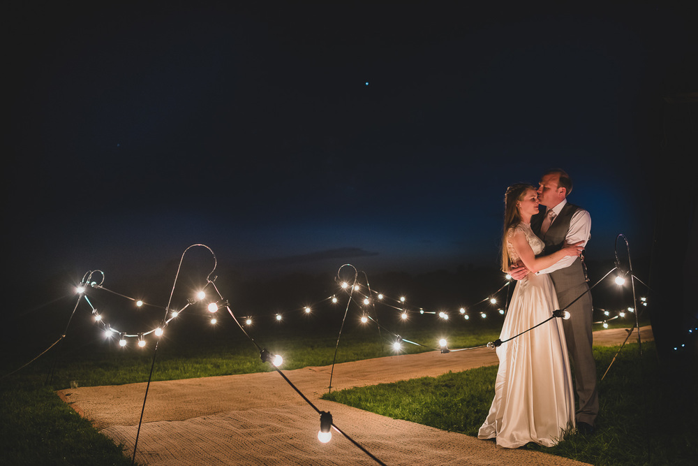 Tipi wedding in a field in sussex uk