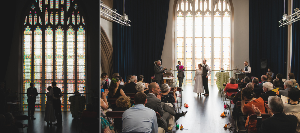 trinity centre bristol wedding venue with stained glass window