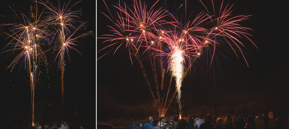 long exposure photo of fireworks display at wedding in somerset