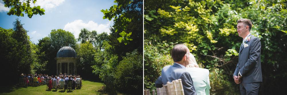 outdoor wedding ceremony in wiltshire uk
