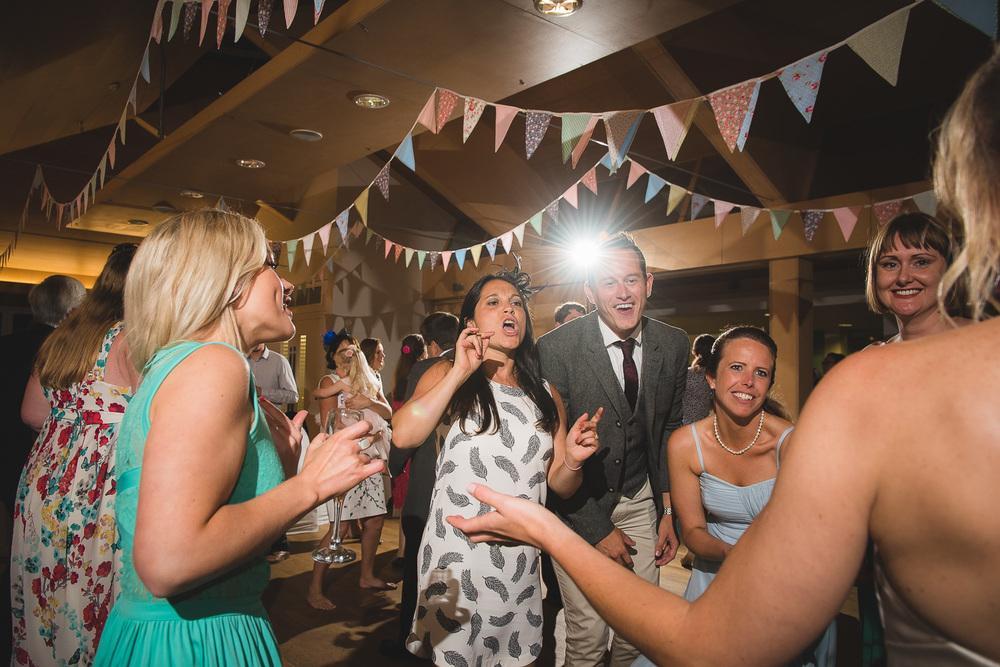 great wedding photo of guests dancing at princess pavillion