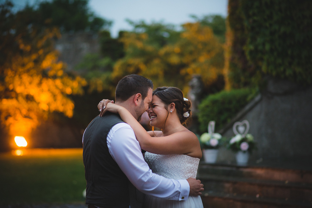 stunning wedding photo from walton castle clevedon