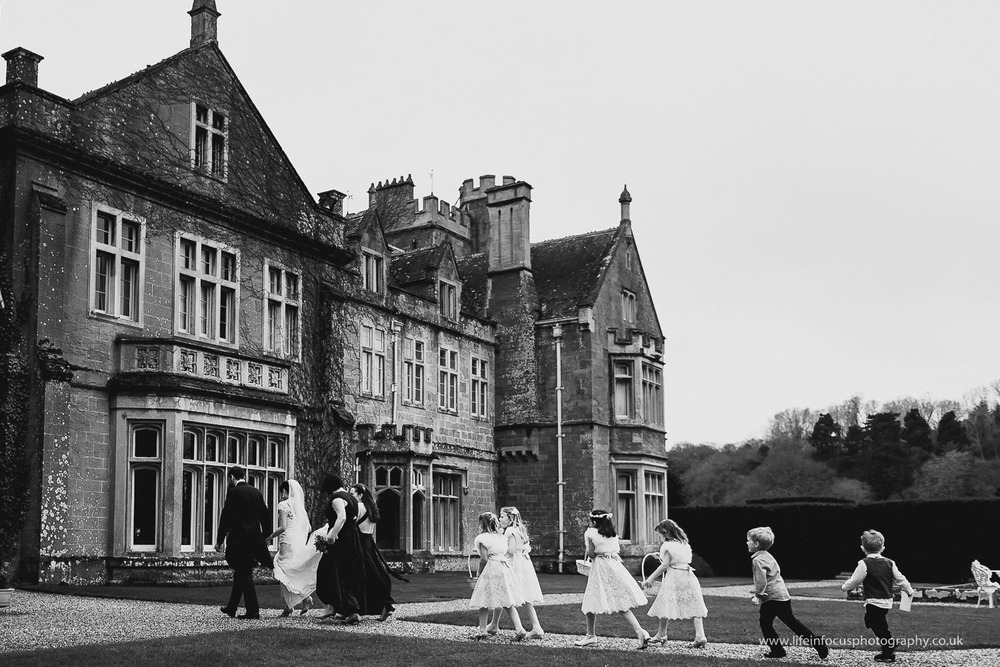 black and white wedding picture at st audries park wedding venue