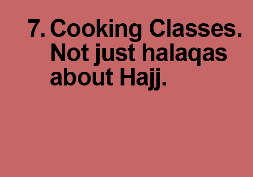 Not just halaqas about Hajj.