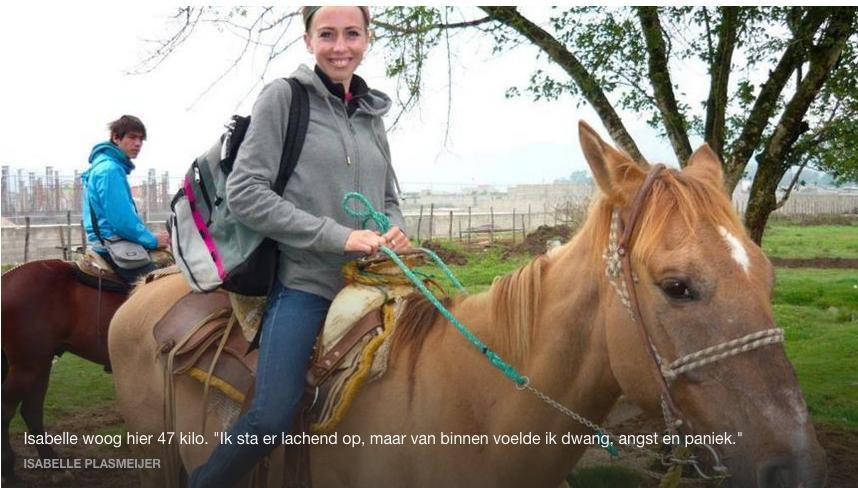 Isabelle Plasmeijer, ex-anorexiapatient trained en coached nu mensen met eetproblemen: www.isapower.nl
