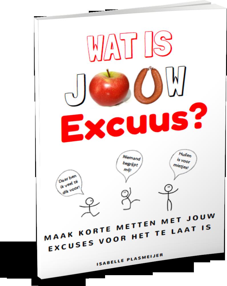 Wat is jouw excuus? Zelfhulpboek voor mensen met eetproblemen (2017- Isabelle Plasmeijer) www.isapower.nl