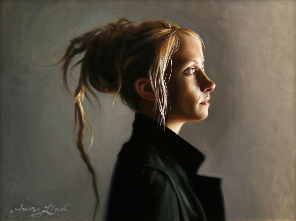 "Profile of Annie with Dreadlock   18"" x 24""    Oil on Canvas   SOLD"