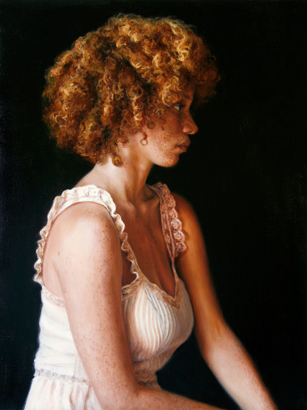 "Profile of Tarren   24"" x 18""    Oil on Linen   SOLD"