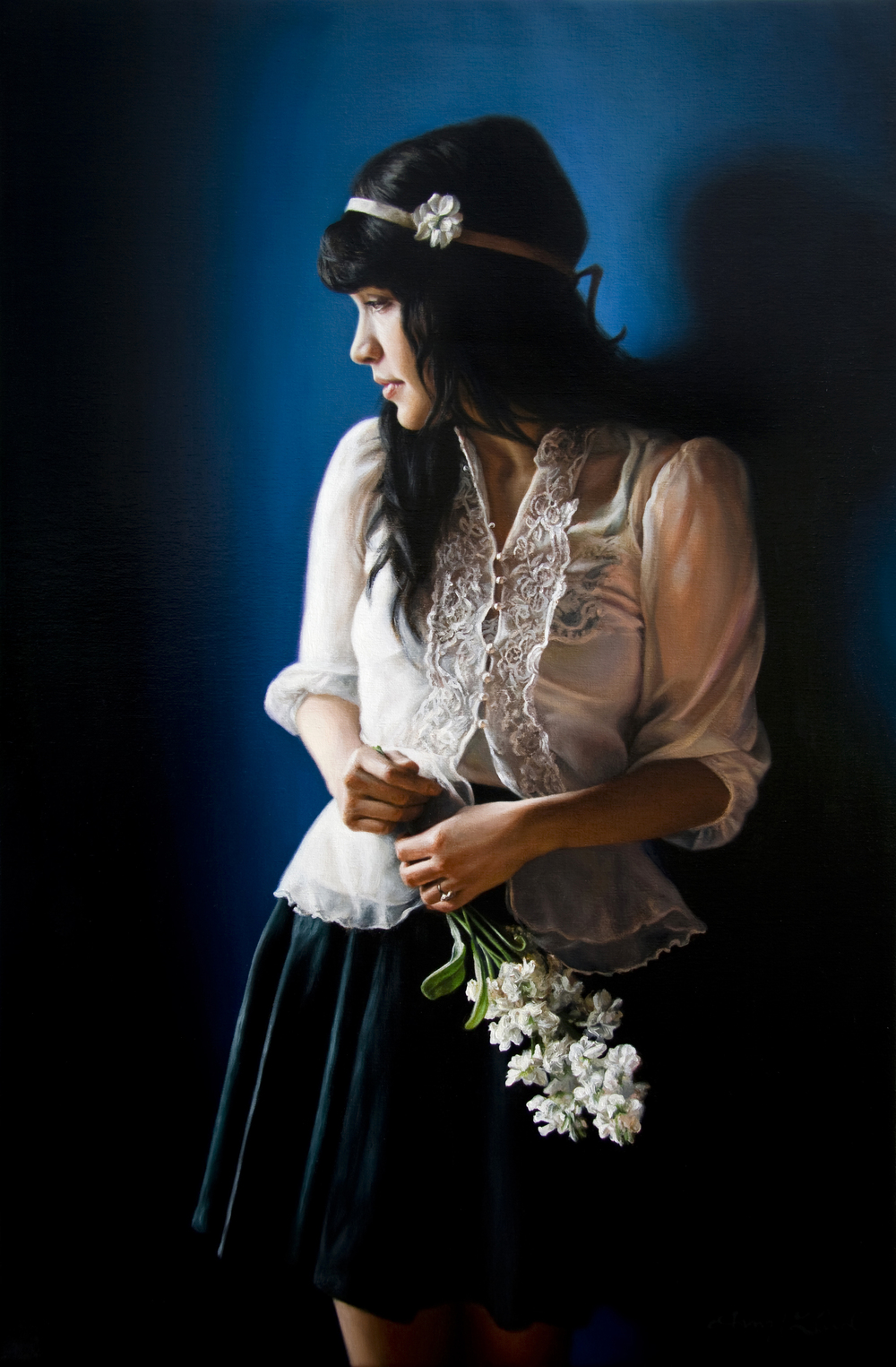 "Belle Fleur   36"" x 24""    Oil on Linen   SOLD"