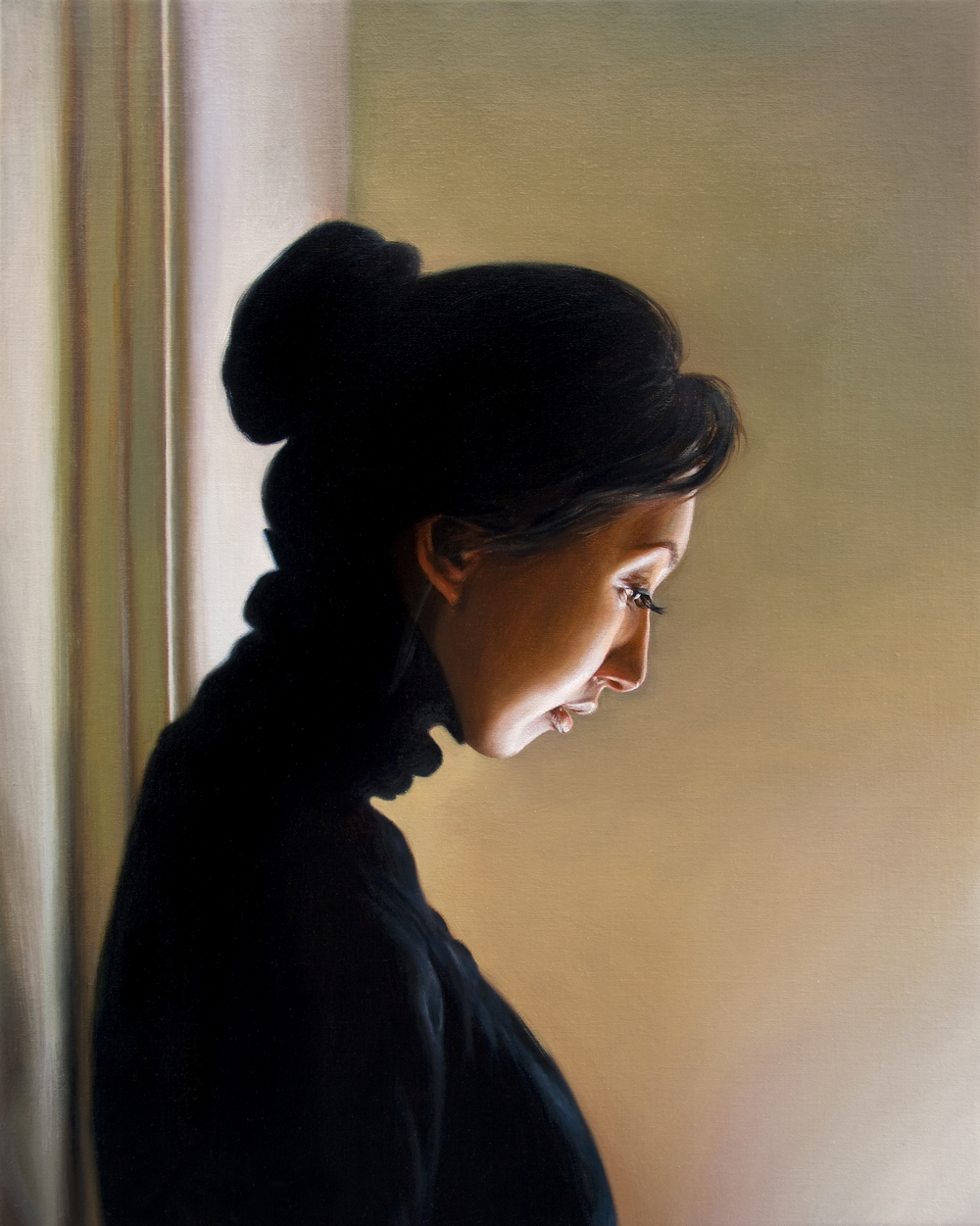 "Silhouette   20"" x 16""    Oil on Linen   SOLD"